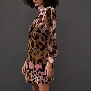 Anthropologie Eleanor velvet dress